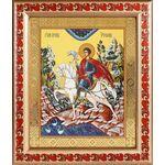 Мученик Трифон Апамейский, икона в рамке с узором 19*22,5 см - Иконы