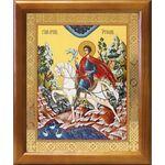 Мученик Трифон Апамейский, икона в деревянной рамке 17,5*20,5 см - Иконы