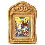 Мученик Трифон Апамейский, резная деревянная рамка - Иконы
