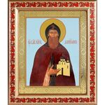 Благоверный князь Даниил Московский, икона в рамке с узором 19*22,5 см - Иконы