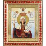 Великомученица Параскева Пятница, икона в рамке с узором 19*22,5 см - Иконы