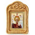 Великомученица Параскева Пятница, икона в резной деревянной рамке - Иконы