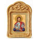 Великомученик Никита Готфский, икона в резной деревянной рамке - Иконы