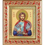 Великомученик Никита Готфский, икона в рамке с узором 14,5*16,5 см - Иконы