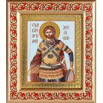 Великомученик Артемий Антиохийский, икона в рамке с узором 14,5*16,5 см - Иконы
