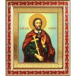 Великомученик Иоанн Новый Сочавский, икона в рамке с узором 19*22,5 см - Иконы
