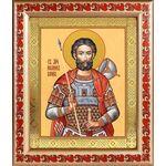 Мученик Иоанн Воин, икона в рамке с узором 19*22,5 см - Иконы