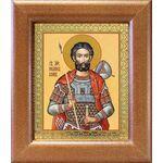 Мученик Иоанн Воин, икона в широкой рамке 14,5*16,5 см - Иконы