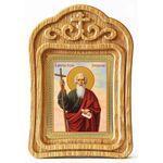 Апостол Андрей Первозванный, икона в резной деревянной рамке - Иконы
