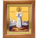 Преподобный Алексий человек Божий, икона в широкой рамке 19*22,5 см - Иконы