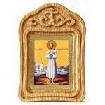 Преподобный Алексий человек Божий, икона в резной деревянной рамке - Иконы