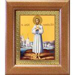 Преподобный Алексий человек Божий, икона в широкой рамке 14,5*16,5 см - Иконы