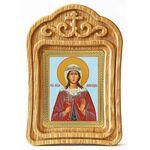 Мученица Лариса Готфская, икона в резной деревянной рамке - Иконы