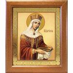 Равноапостольная царица Елена, икона в широкой рамке 19*22,5 см - Иконы