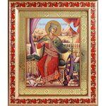 Великомученица Екатерина Александрийская, рамка с узором 19*22,5 см - Иконы