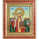 Равноапостольная Нина просветительница Грузии, рамка с узором 19*22,5 - Иконы