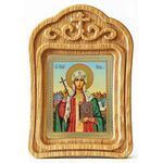 Равноапостольная Нина просветительница Грузии, резная рамка - Иконы