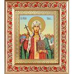 Равноапостольная Нина просветительница Грузии, рамка с узором 14,5*16,5 - Иконы