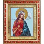 Великомученица Ирина Македонская, икона в рамке с узором 19*22,5 - Иконы