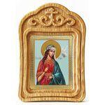 Великомученица Ирина Македонская, икона в резной деревянной рамке - Иконы