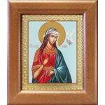 Великомученица Ирина Македонская, широкая рамка 14,5*16,5 см - Иконы