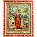 Равноапостольная Мария Магдалина, икона в рамке с узором 19*22,5 - Иконы