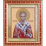 Святитель Мирон Критский, икона в рамке с узором 19*22,5 см - Иконы