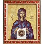 Праведная Вероника Кровоточивая, икона в рамке с узором 19*22,5 см - Иконы