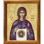 Праведная Вероника Кровоточивая, икона в рамке 17,5*20,5 см - Иконы