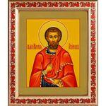 Мученик Максим Азийский, икона в рамке с узором 19*22,5 - Иконы