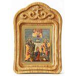 Девять мучеников Кизических, икона в резной деревянной рамке - Иконы