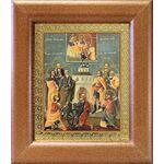 Девять мучеников Кизических, икона в широкой рамке 14,5*16,5 см - Иконы