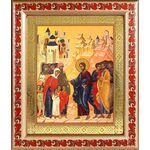 Благословение детей, икона в рамке с узором 19*22,5 см - Иконы