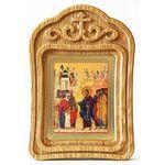 Благословение детей, икона в резной деревянной рамке - Иконы