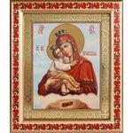 Почаевская икона Божией Матери, рамка с узором 19*22,5 см - Иконы