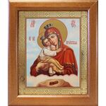 Почаевская икона Божией Матери, широкая рамка 19*22,5 см - Иконы