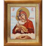 Почаевская икона Божией Матери, деревянная рамка 17,5*20,5 см - Иконы
