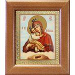 Почаевская Икона Божией Матери на облаке, рамка 14,5*16,5 см - Иконы