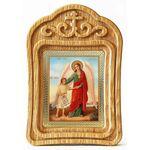 Ангел Хранитель с душой человека, резная деревянная рамка - Иконы