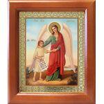 Ангел Хранитель с душой человека, икона в рамке 12,5*14,5 см - Иконы