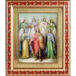 Собор Архангела Михаила, икона в рамке с узором 19*22,5 см - Иконы