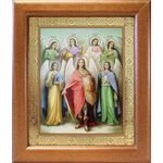 Собор Архангела Михаила, икона в широкой рамке 19*22,5 см - Иконы