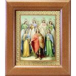 Собор Архангела Михаила, икона в широкой рамке 14,5*16,5 см - Иконы