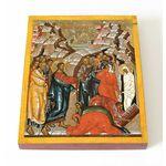 Воскрешение Лазаря, икона на доске 13*16,5 см - Иконы