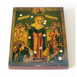"""Икона Божией Матери """"Всех скорбящих Радость"""" с грошиками, доска13*16,5 - Иконы"""
