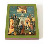 Девять мучеников Кизических, икона на доске 13*16,5 см - Иконы