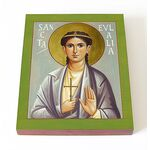 Мученица Евлалия Барселонская, дева, икона на доске 13*16,5 см - Иконы