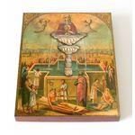 """Икона Божией Матери """"Живоносный Источник"""", печать на доске 13*16,5 см - Иконы"""