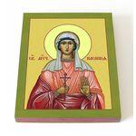Мученица Касиния Анкирская, икона на доске 13*16,5 см - Иконы