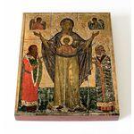 Мирожская икона Божией Матери, доска 13*16,5 см - Иконы